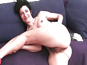 Black Couple Granny Hairy Masturbation Mature MILF Panties