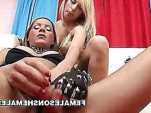 Ladyboy Lesbian MILF Pussy Toys