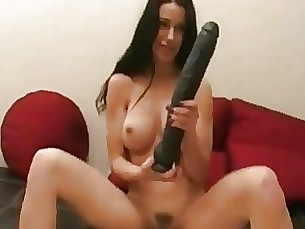Brunette Car Dildo Masturbation MILF