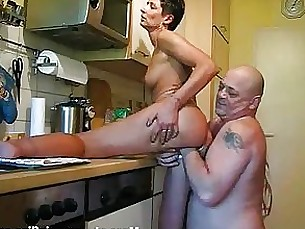 Amateur Brunette Couple Fetish Fisting Kitchen Masturbation Mature