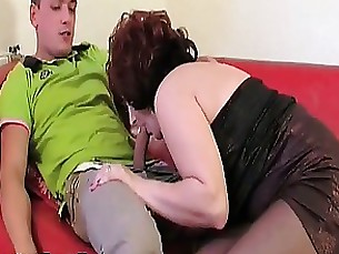 Blowjob Brunette Big Cock Mature MILF Nylon Teen