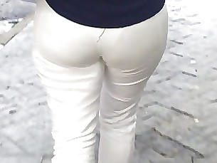 SDRUWS2 - SEE THROUGH WHITE PANTS AND WHITE PANTIES  2