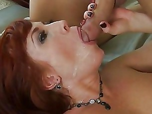 Brittany Oconnell recieves a fresh load of cum on her mouth