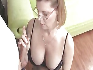 Blonde Couple Handjob Jerking Masturbation MILF Nasty