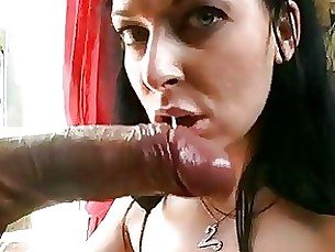 Filling Her Mouth With Lots Of G...