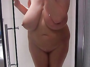 Boobs BBW MILF Shower