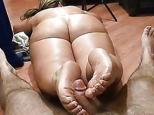 Butt Naked Foot Job