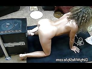Amateur Brunette Dildo Doggy Style Fuck Hot Masturbation MILF
