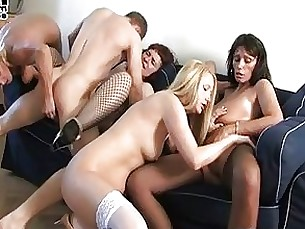 Horny Mature Party Threesome