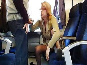 Amateur Blowjob Mature Public Sucking Train Wife