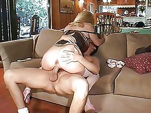 Blonde Blowjob Hot Lingerie MILF Seduced