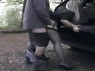Amateur Doggy Style MILF Public Threesome