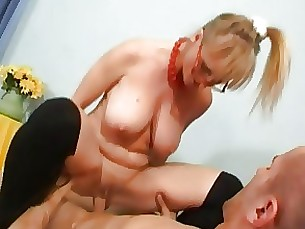 Big Tits Blonde MILF Stunning