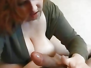 Redhead milf squirting on real homemade