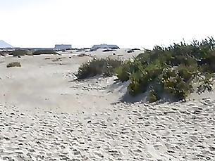 Beach Doggy Style MILF Public