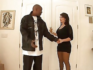 Milf horny for black dick while husband's at work
