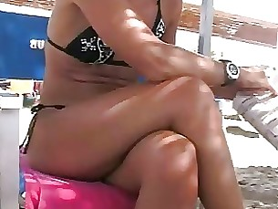 Beach Foot Fetish MILF