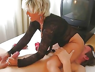 Lady Barbara face stroking a cock and face sitting
