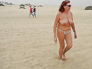 Amateur Beach Mature Public
