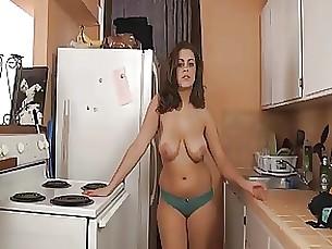 Big Tits Kitchen Lingerie MILF Sister