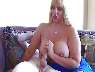 Blonde Big Cock Couple Handjob Huge Cock Masturbation MILF Teen
