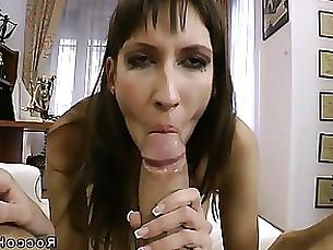Blowjob Brunette Big Cock MILF POV Slender Sucking