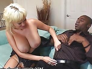 Blond MILF and her black stallion
