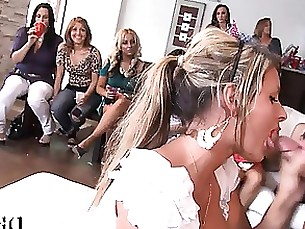 Excited gorgeous girls getting what they desire