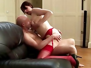 Babe Cumshot Hot Mature Stocking