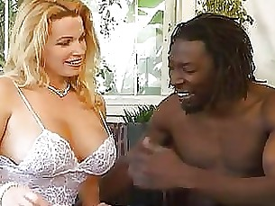 Black Blonde Big Cock MILF