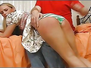 Blonde Pornstar Spanking