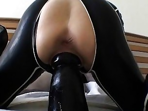 Brunette Crazy Hooker Horny Latex Masturbation MILF Nasty