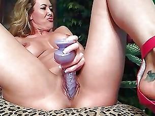 Dildo Flexible Masturbation Mature Pussy Solo