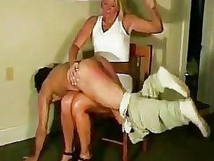 femdom spanks maleslave otk - over the knee