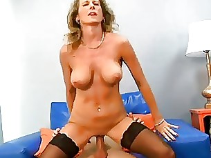 Freckled MILF Takes On A Young Cock