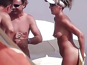 Beach Boobs Horny MILF Nude