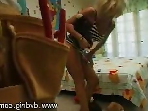 Hot Blonde MILF Zarina Has Rough Sex With A Young Stud In Her Childrens Room