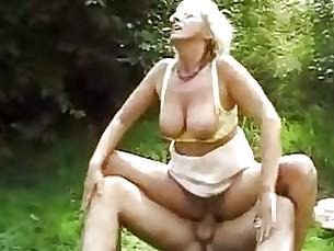 Blowjob Couple Mature Outdoor