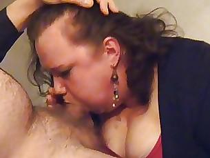 Swedish MILF hotel blowjob with cum