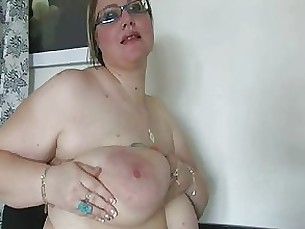 Blonde BBW Mammy Mature MILF Monster Shaved Solo
