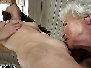 Granny Lesbian Mature Shower