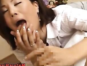 Big Cock Horny Japanese Mature MILF Sucking