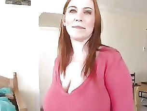 Mom with huge saggy boobs.