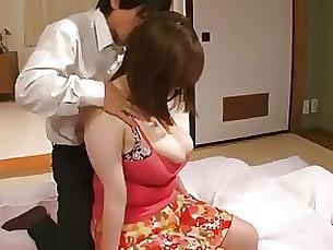 Bus Busty Hairy Japanese Mammy MILF Seduced