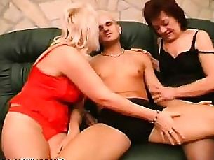 Blonde Blowjob Brunette Fatty Granny Mature Threesome