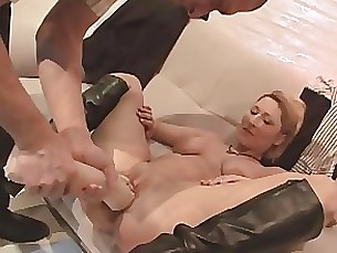 Anal Blonde Couple Dildo Masturbation MILF Toys