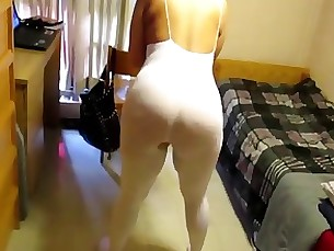 Wife is showing her big ass in pantyhose