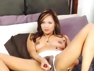 Babe Dildo Hairy Masturbation MILF Pussy Solo Toys
