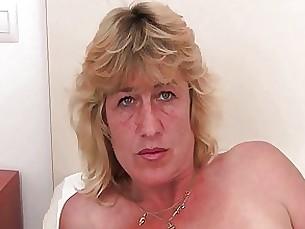 Blonde Fingering Granny Masturbation Mature MILF Pussy Solo
