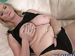 Blonde Fingering Interracial Masturbation Mature MILF Stocking